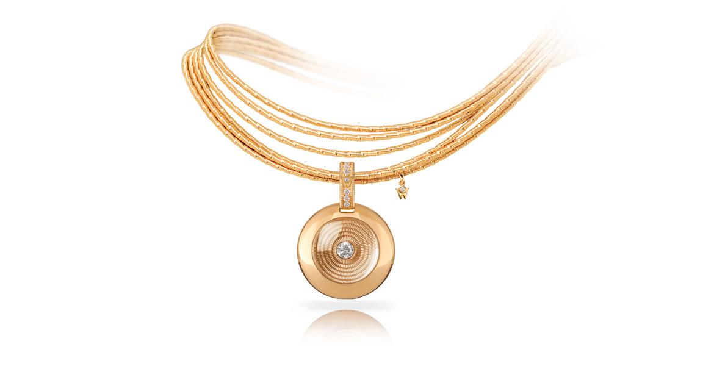 Collier Sonnenglanzfaecher mit Amulett Goldschatz
