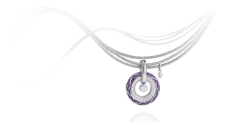 Collier Amulett Purpur
